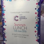 The Cancer Research Crowborough Committee Summer Lunch 2016