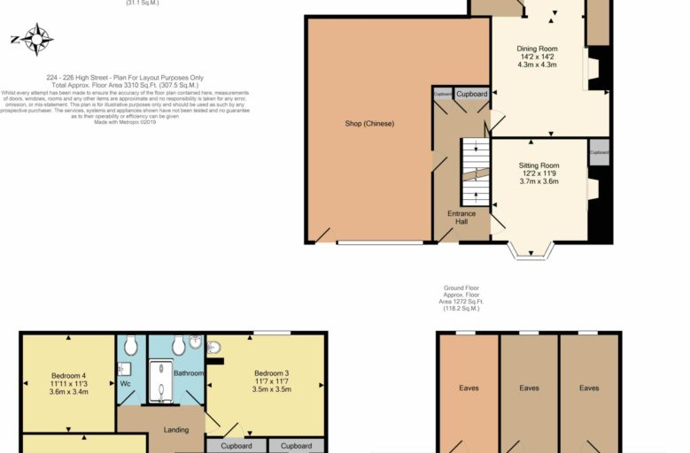 Oldfield Smith & Co - 224-226 High Street Uckfield - floor plan